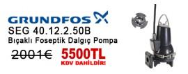 Grundfos SEG 40.12.2.50B - Bıçaklı Foseptik Dalgıç Pompa