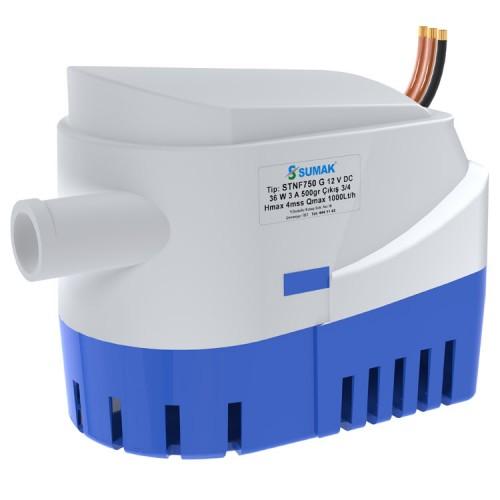 Sumak STNF750 G Otomatik Flatörlü Sintine Dalgıç Pompası