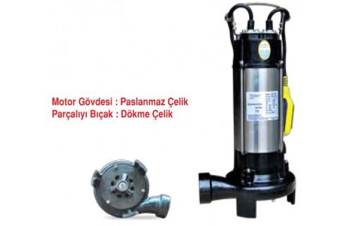 Stream SVD1300F Parçalayıcı Bıçaklı Dalgıç Tip Atıksu Pompası (Flatörlü)