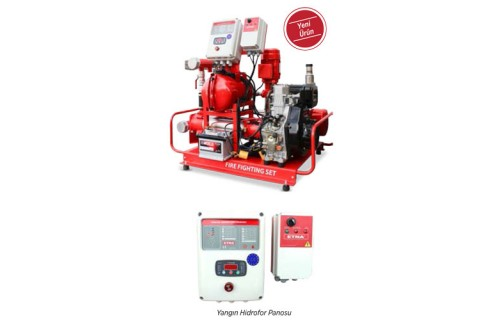 Etna Y2 KO 15/8-55+D10+B15 Elektrik + Dizel Yatay Pompalı Alarm Kitli Yangın Hidroforu